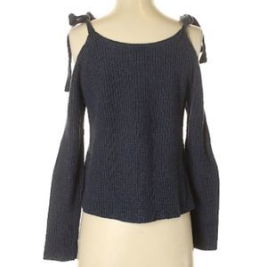 Lou & Grey Navy Bow-Shoulder Sweater